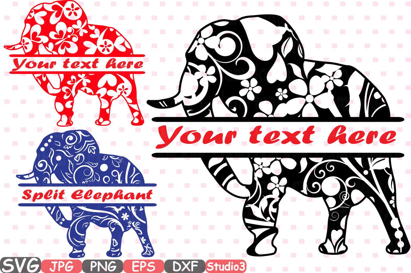 svg files elephant clipart Elephant cut file elephant monogram svg Elephant svg file Elephant bundle cutting file elephant png