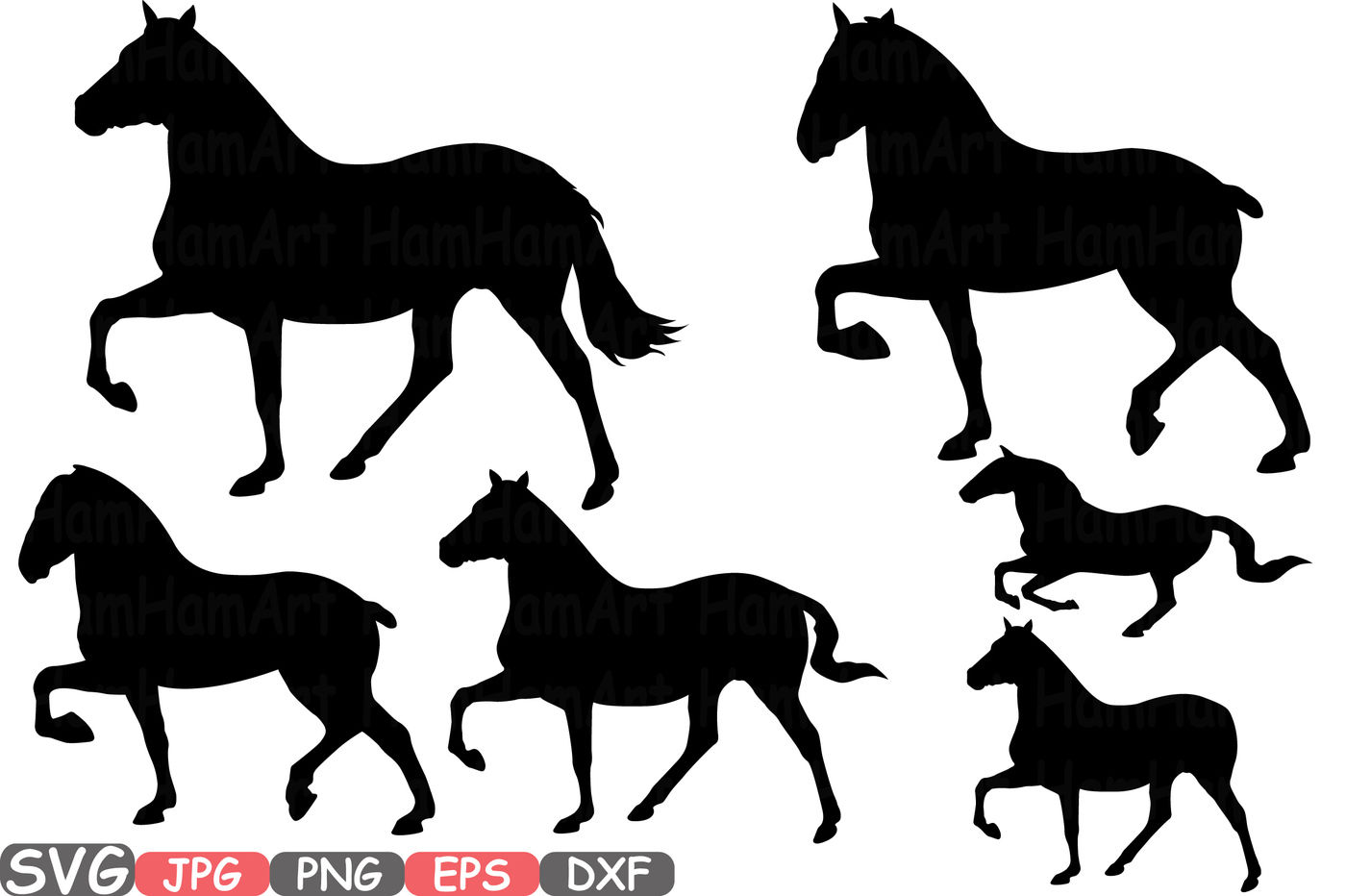 Wild Horses Mascot Woodland Monogram Horse Cutting Files Svg