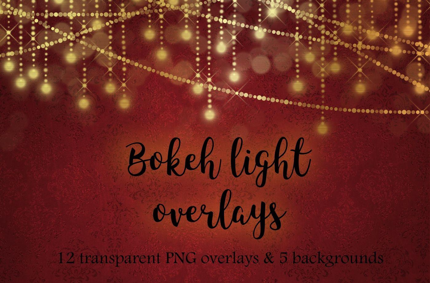 Gold Bokeh Lights By Paper Farms Thehungryjpeg Com