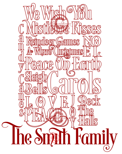 Christmas Subway Art.Christmas Subway Art Svg Dxf Eps Png Files By Kerry