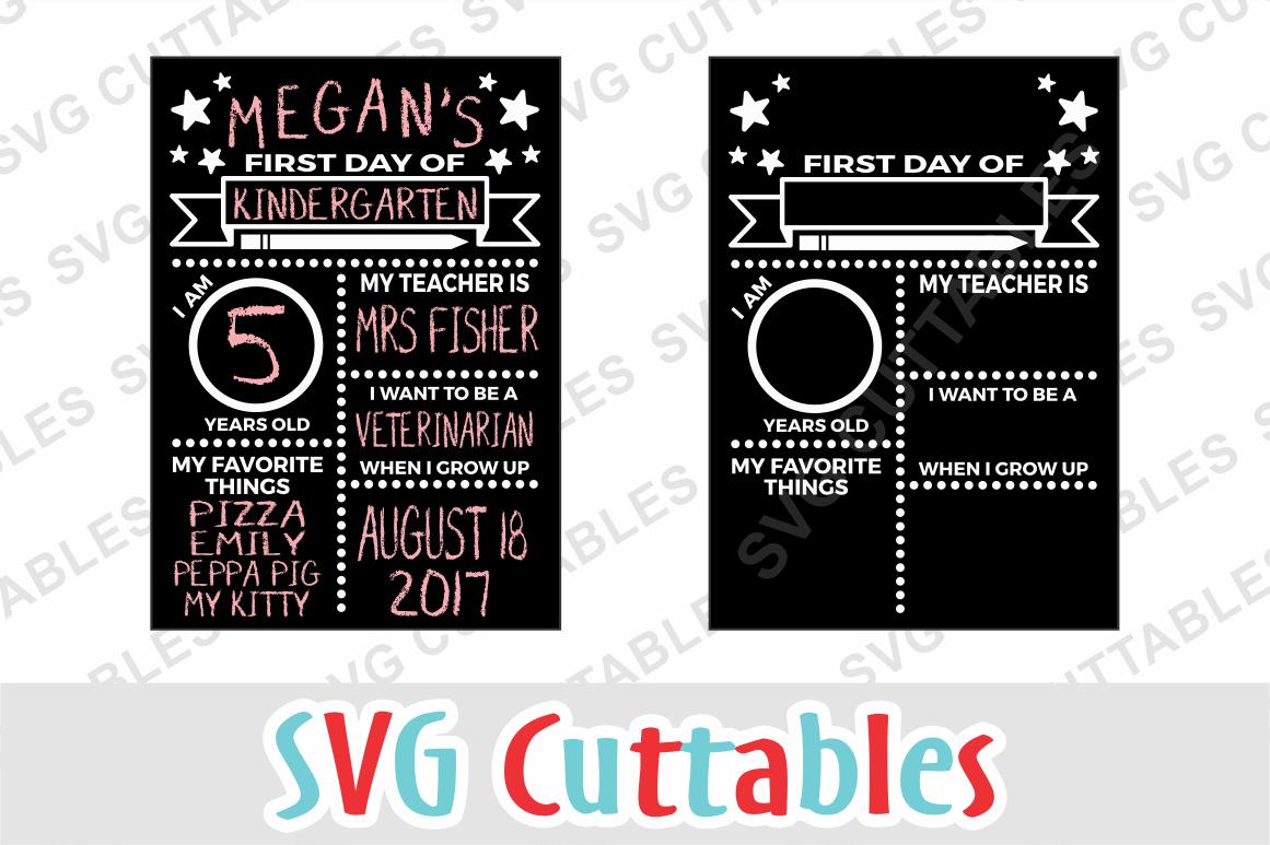 First Day Of School Board By Svg Cuttables Thehungryjpeg Com