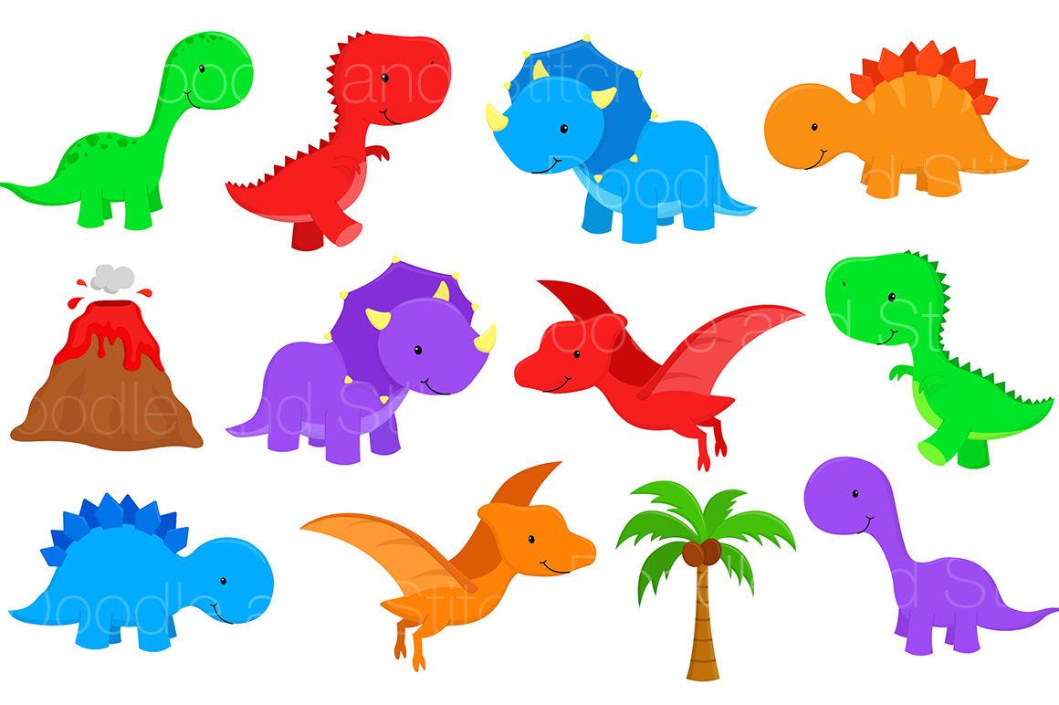 Dinosaur Clipart Set By Doodle Art | TheHungryJPEG.com (1160 x 772 Pixel)