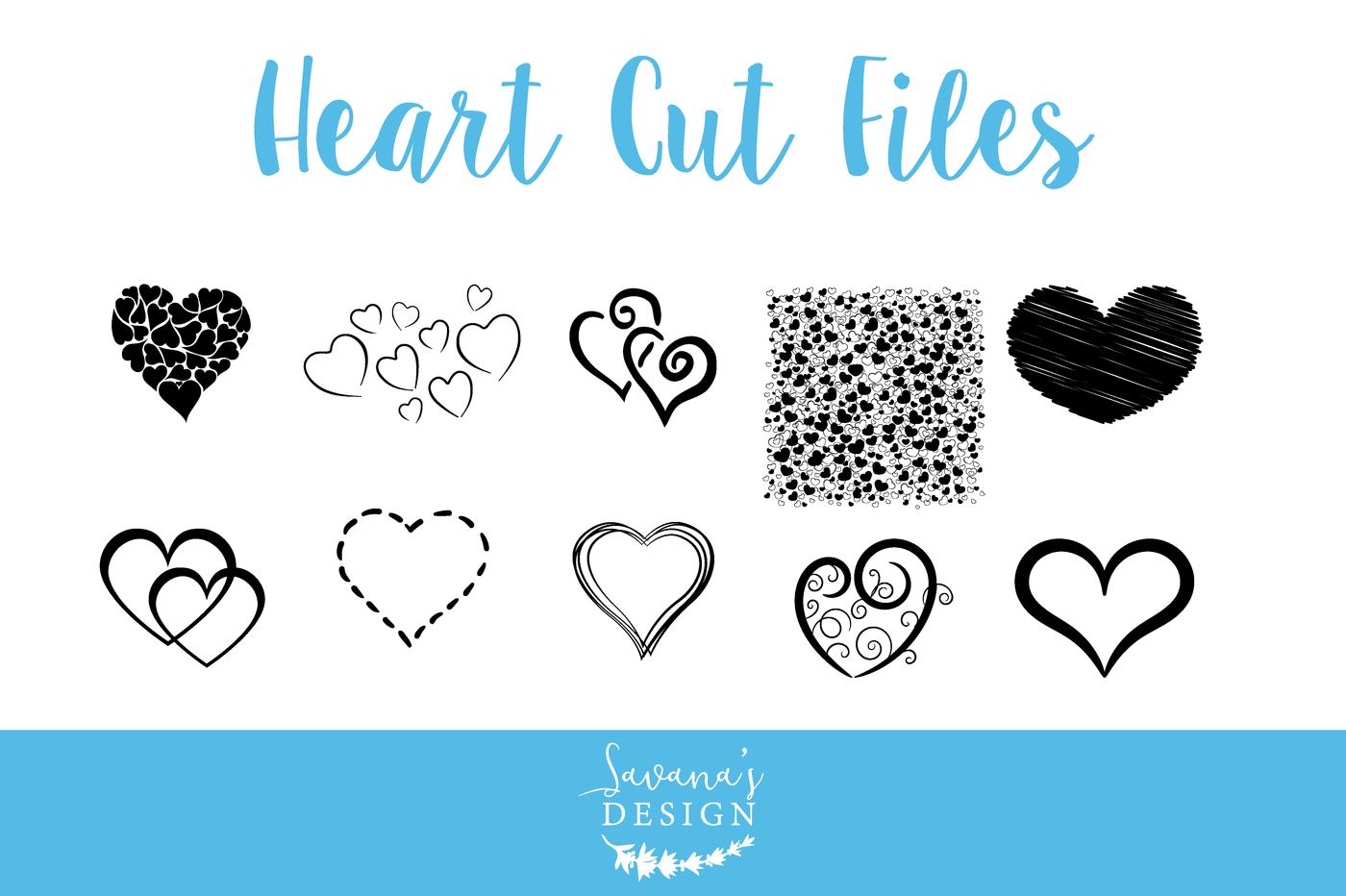 Heart Cut Files Heart Svg Heart Bundle Heart Eps Heart Cutting