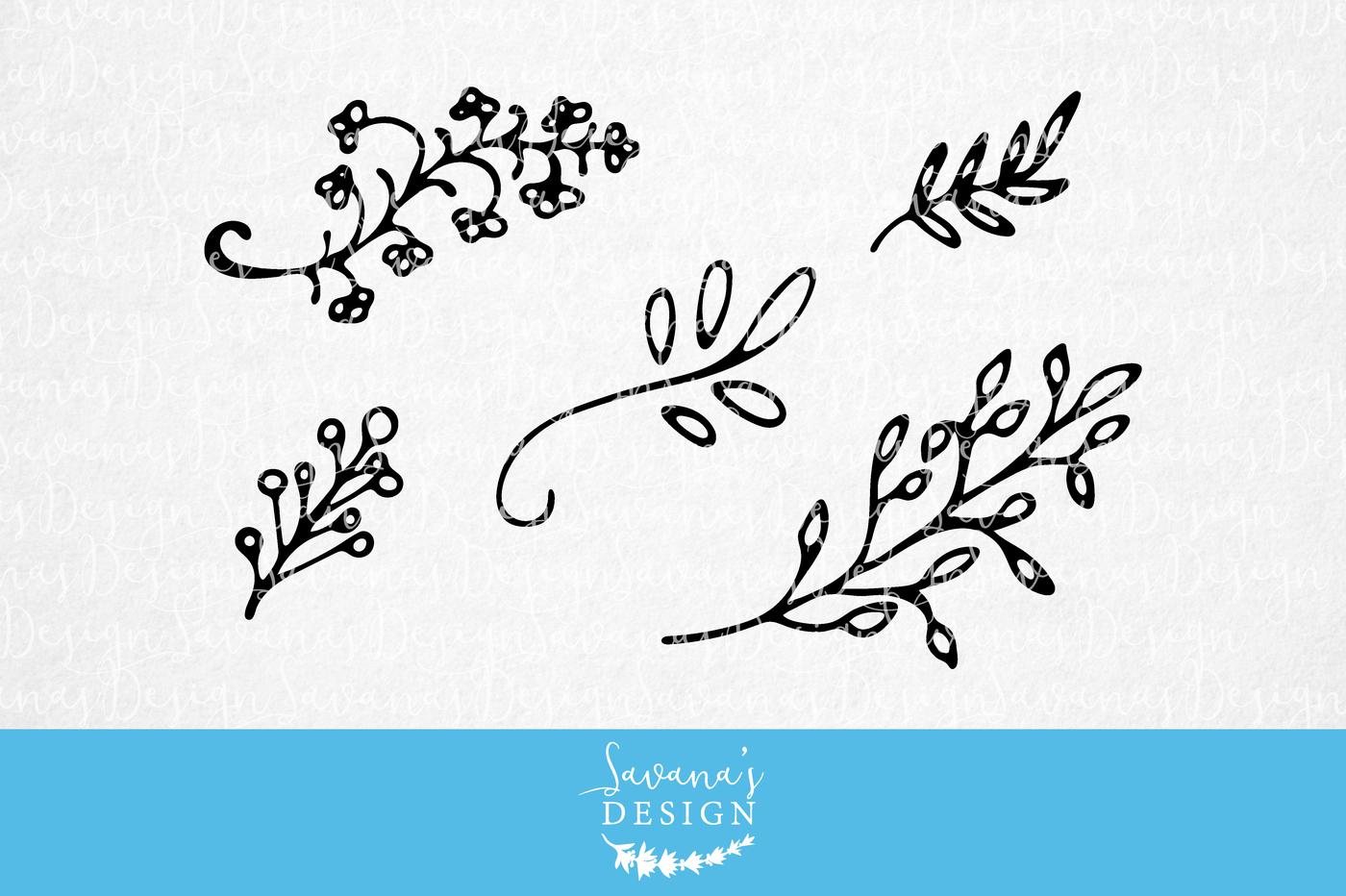 Floral Elements Svg By Savanasdesign Thehungryjpeg Com