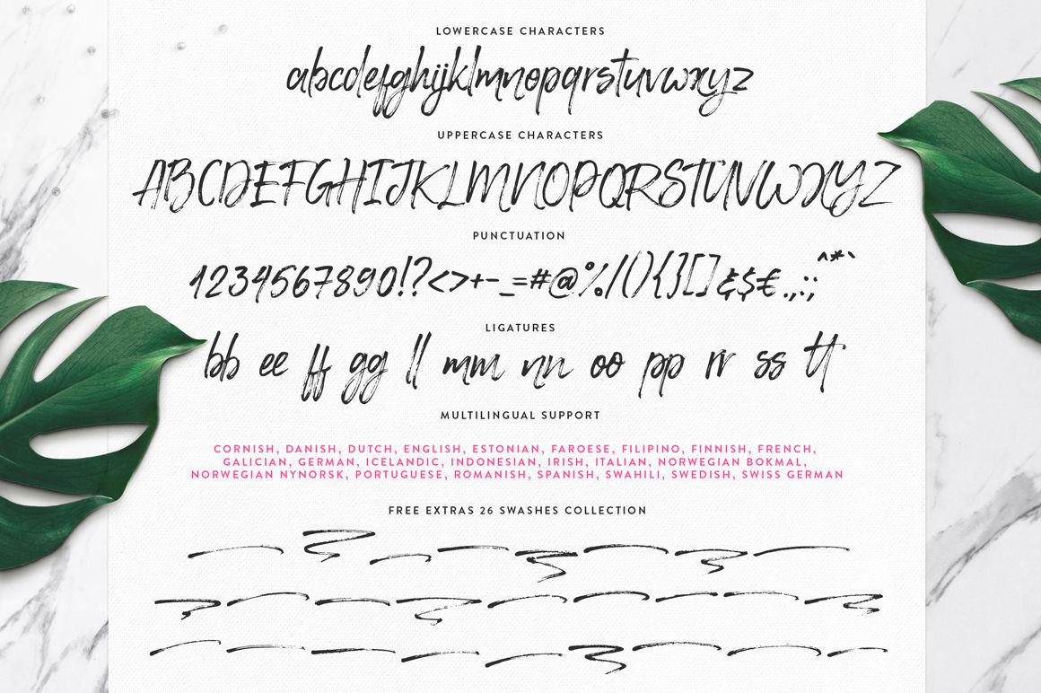 Happy Trendy Font Extras By Eskimo Family Thehungryjpeg Com