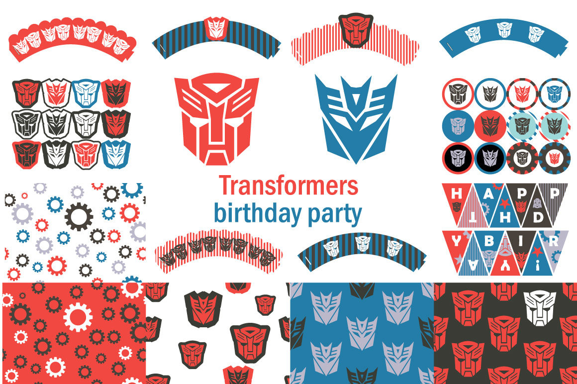 This is a picture of Luscious Transformer Birthday Invitations Printable Free