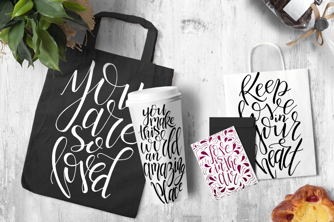 9 Hand Lettering Quotes About Love By Astartejulia Thehungryjpeg Com