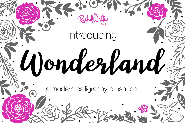 Wonderland Modern Calligraphy Font By Rachel White Art