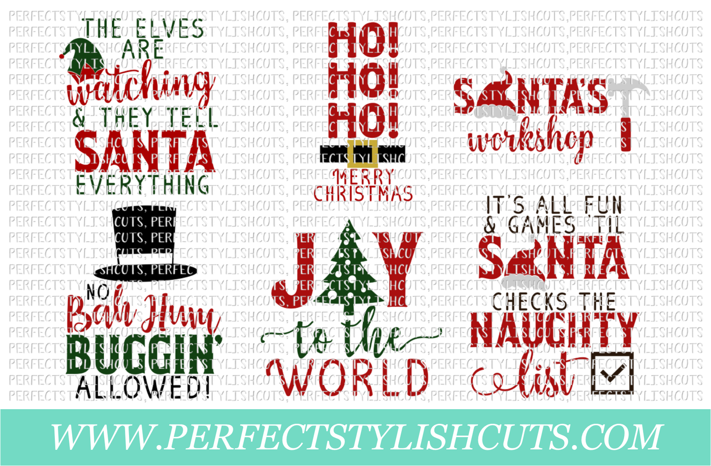 SALE! Christmas Wood Sign Designs Collection - SVG, EPS, DXF, PNG