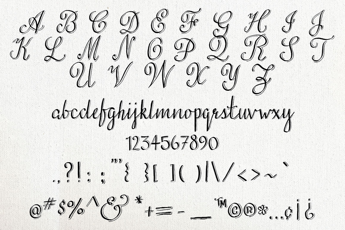 Love Stuff Calligraphy Font By The Pen And Brush