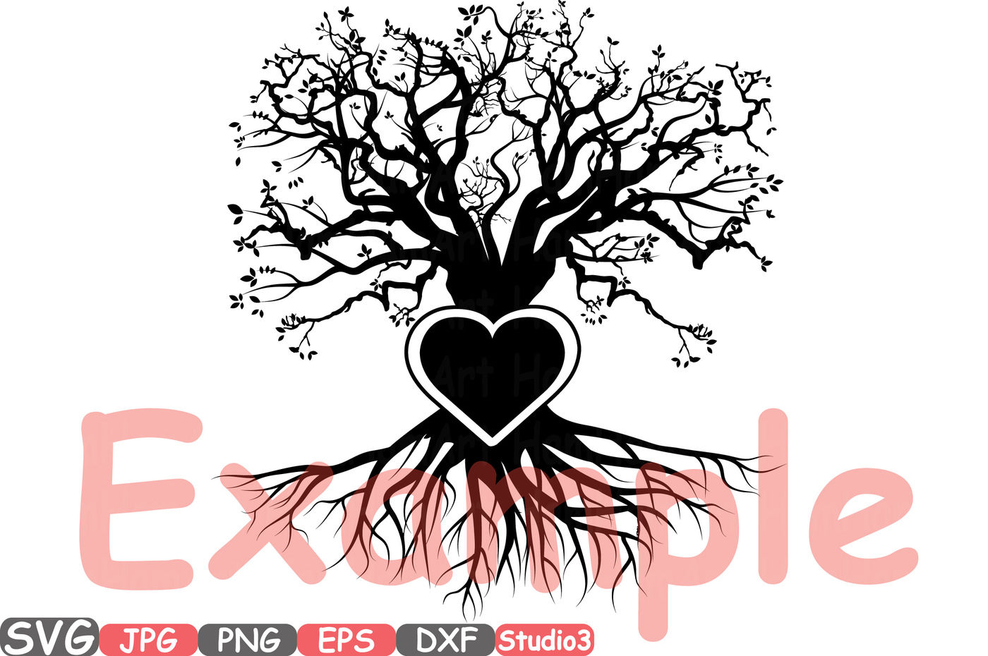 Family Tree Heart Frame Svg Silhouette Cutting Files Cricut