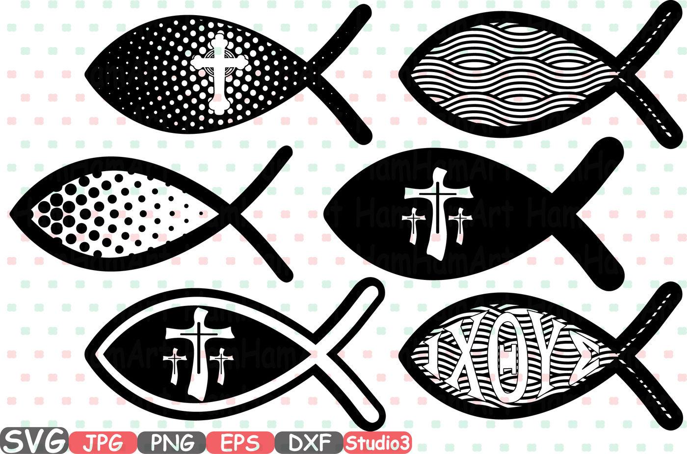 Jesus Fish Svg Silhouette Cutting Files Cricut Studio3 Cameo Jesus