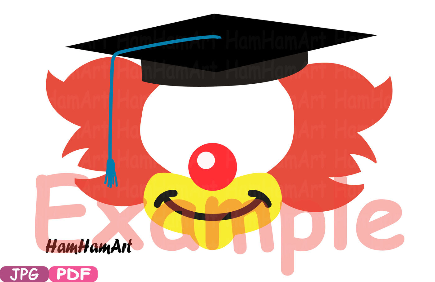 Party Graduation Circus Photo Booth Props Jpg Pdf Silhouette