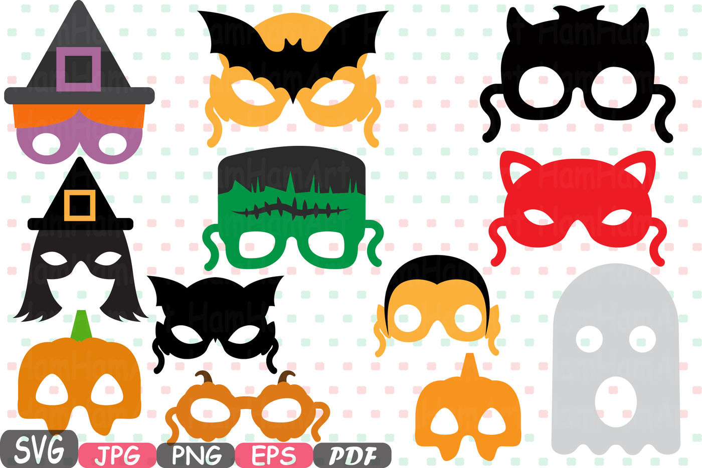 photograph about Halloween Photo Booth Props Printable known as Halloween Monsters props children masks Photobooth Props Picture