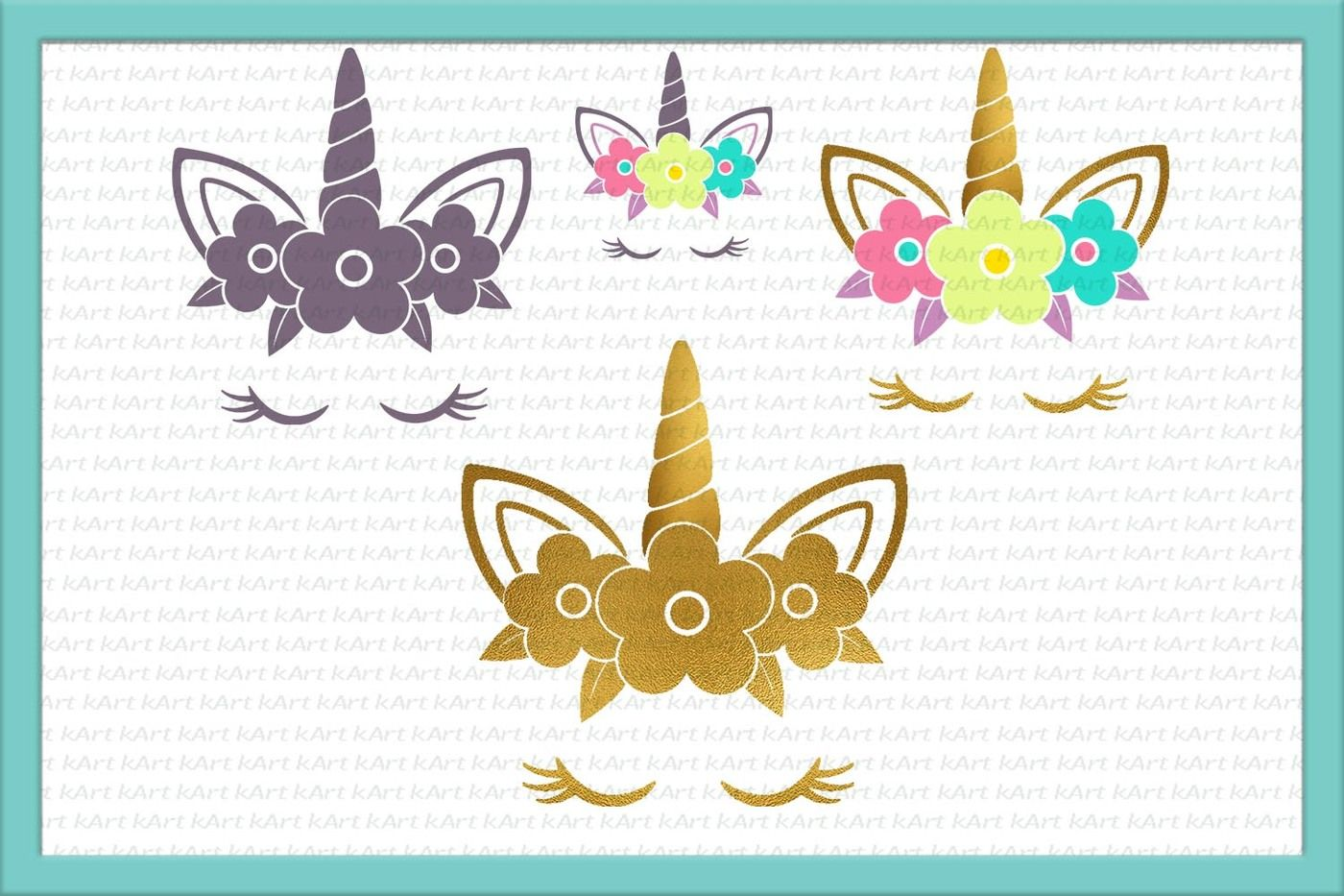 Unicorn Svg Cutting File Iron On Transfer Print By Kartcreation