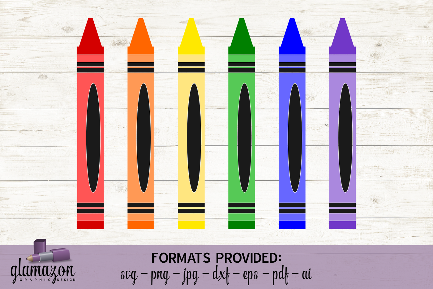 Splash Of Color Crayons Svg Dxf Eps Png Pdf Jpg Ai Cutting File By Glamazon Graphics Thehungryjpeg Com