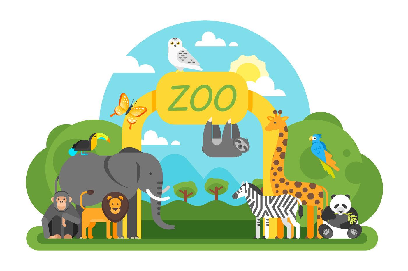 Zoo background By Cartoon time! | TheHungryJPEG.com