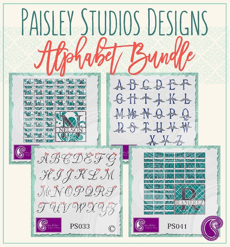 Paisley Studios Designs Alphabet Bundle By Paisley Studios Designs