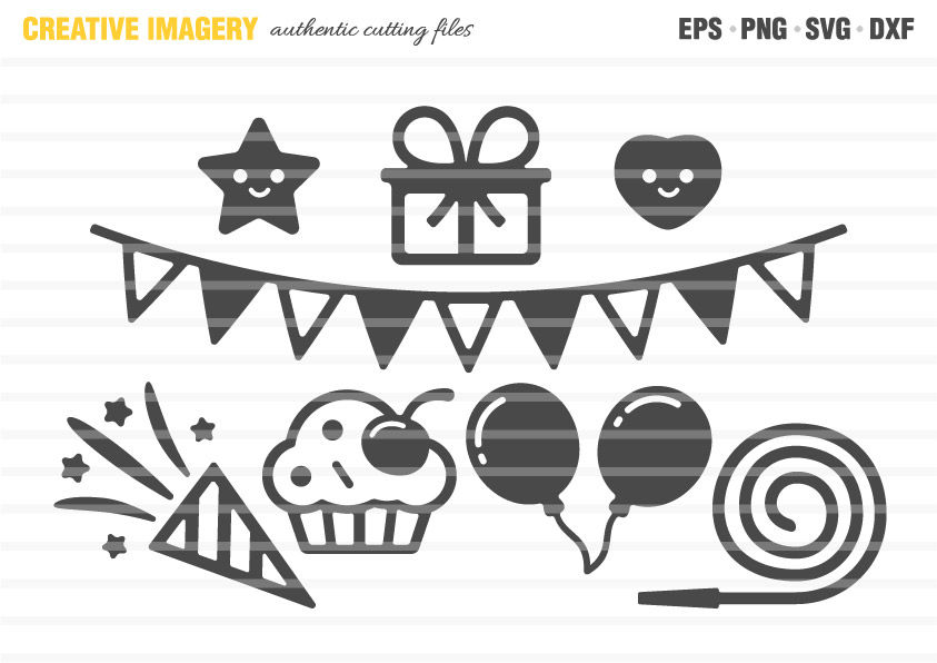 Birthday Party Cut Files By Creative Imagery Thehungryjpeg Com