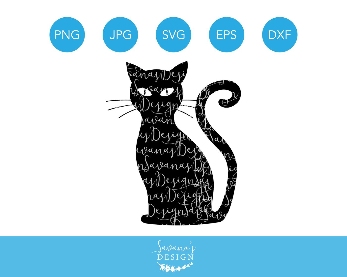 Black Cat Svg By Savanasdesign Thehungryjpeg Com