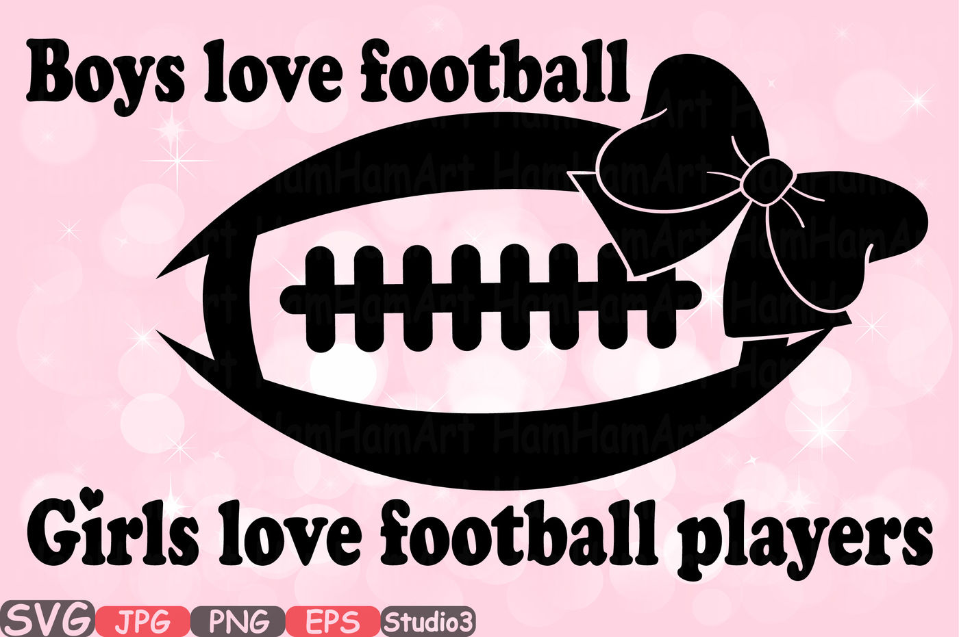 Football Sports Boys Love Football Girls Love Silhouette Cutting