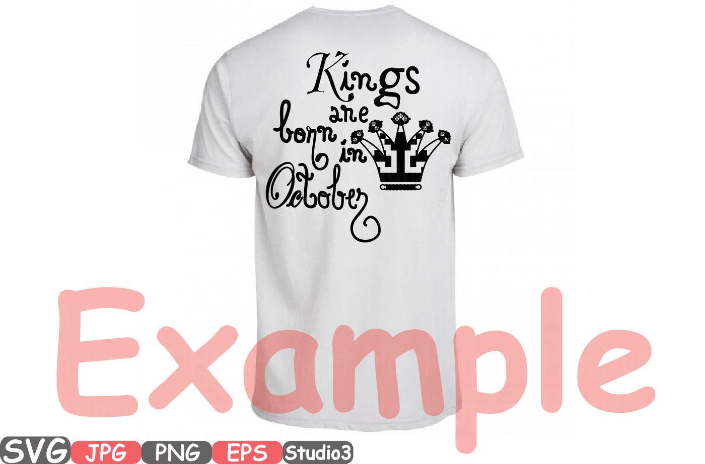 Kings Are Born In October November December Silhouette Svg Clipart