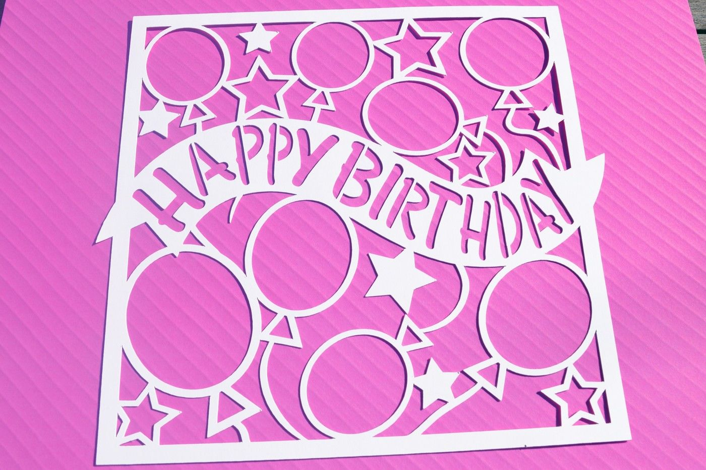 Happy Birthday Svg Dxf Eps Files By Digital Gems