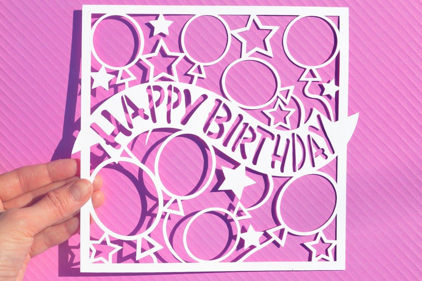 Happy Birthday Svg Dxf Eps Files By Digital Gems Thehungryjpeg Com