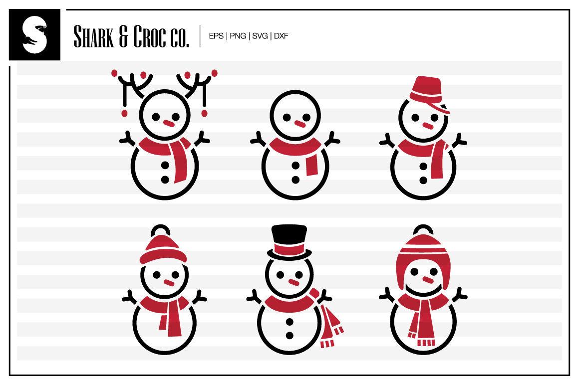Festive Snowman Cut Files By Shark Croc Co Thehungryjpeg Com