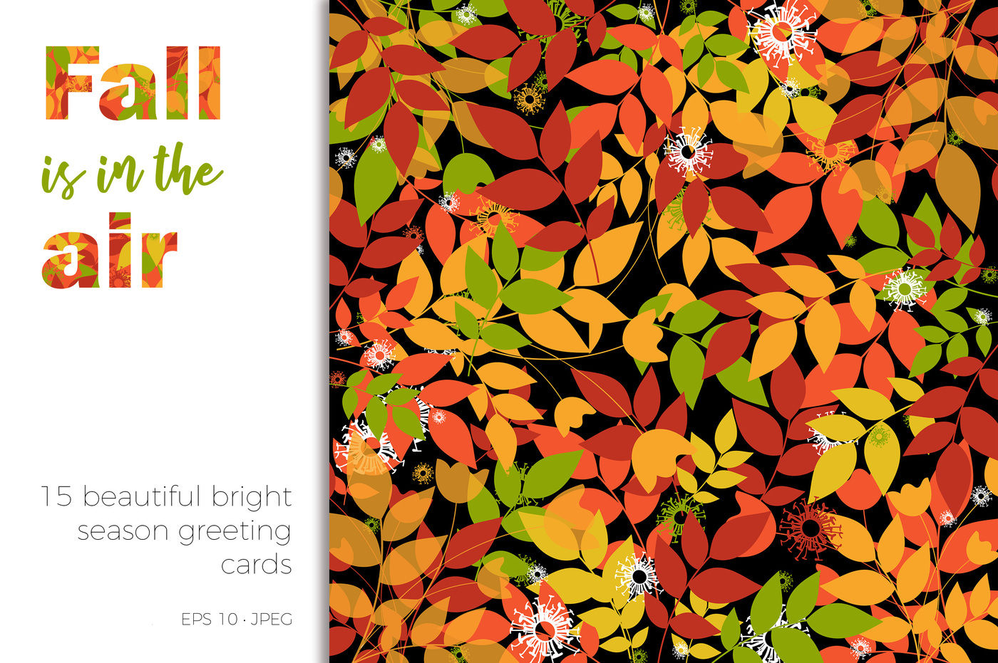 Fall Is In The Air 15 Season Greeting Cards By Nktn Graphics