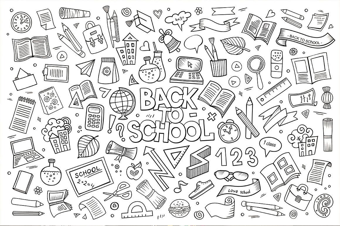 Set Of School Elements By Balabolka Thehungryjpeg Com