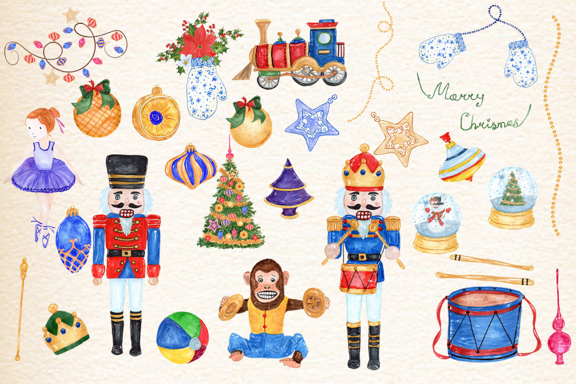 Christmas Nutcracker Kids Clipart By Vivastarkids Thehungryjpeg Com