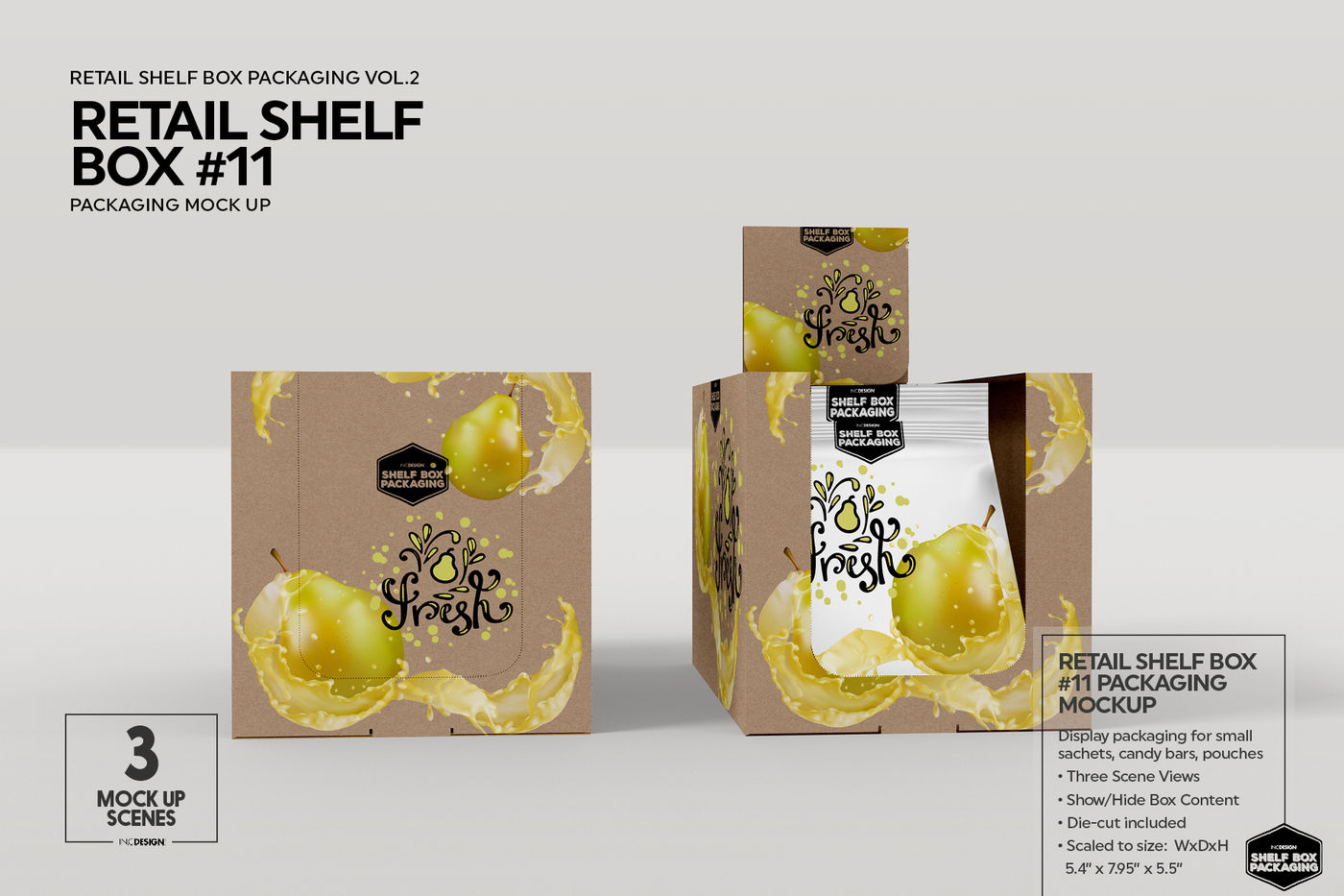 Download Box 18 Sachets Mockup Yellowimages