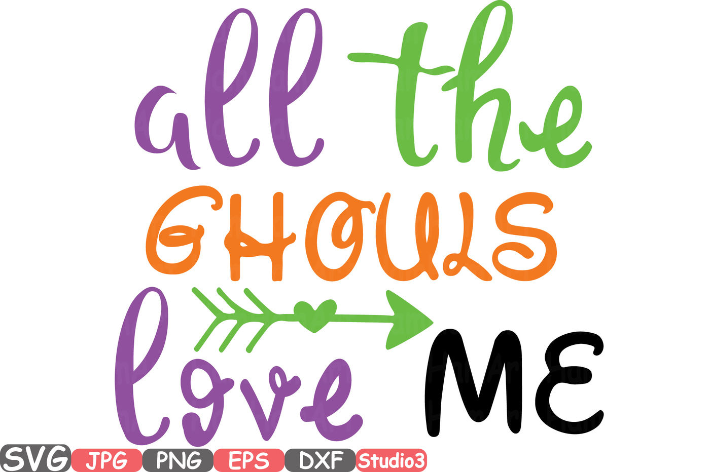 All The Ghouls Love Me Silhouette Svg Cutting Files Digital Clip Art Graphic Studio3 Cricut Cuttable Die Cut Machines Ghost 49sv By Hamhamart Thehungryjpeg Com