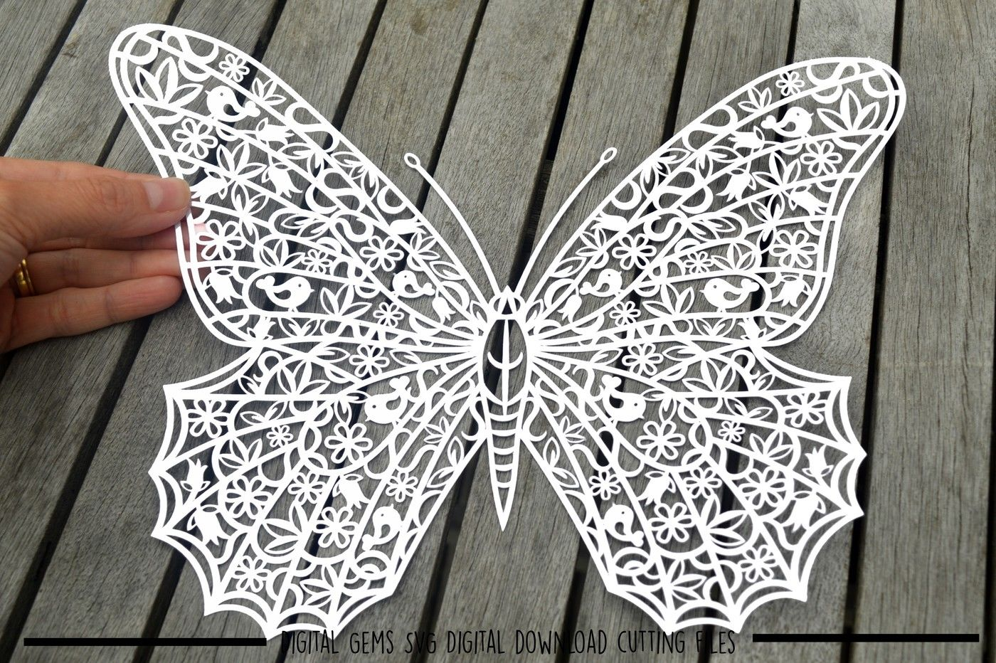 Butterfly Paper Cut Svg Dxf Eps Files By Digital Gems