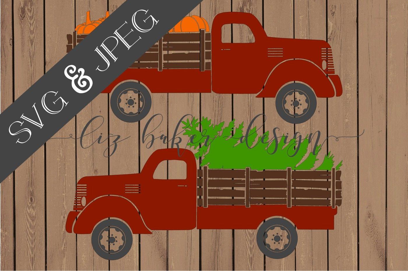 Old Truck Cut File Svg Jpeg By Liz Baker Design Thehungryjpeg Com