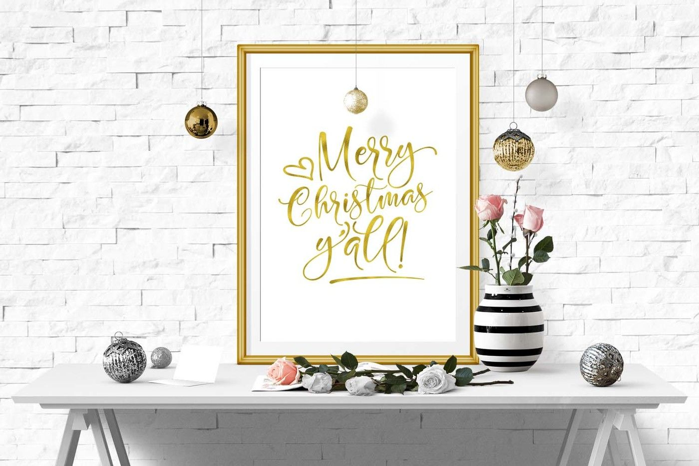 Merry Christmas Yall Svg Dxf Png Eps By Theblackcatprints