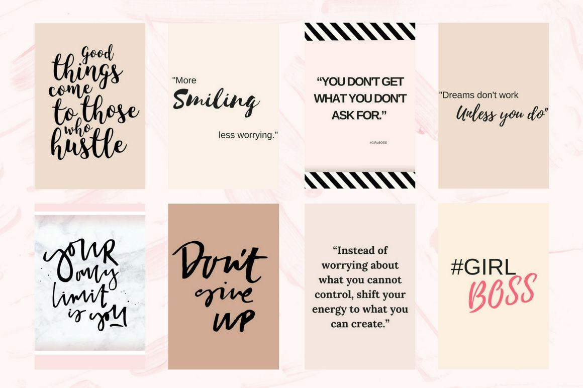 Pinterest Quotes Pack By Creative Stash Thehungryjpeg Com