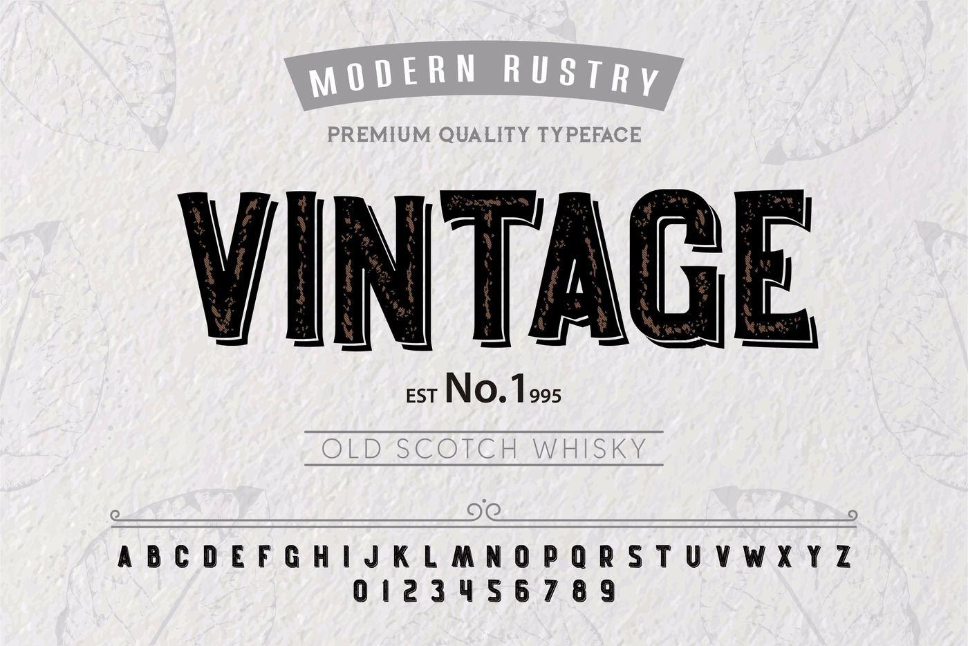 Font Alphabet Script Typeface Label Vintage Typeface For