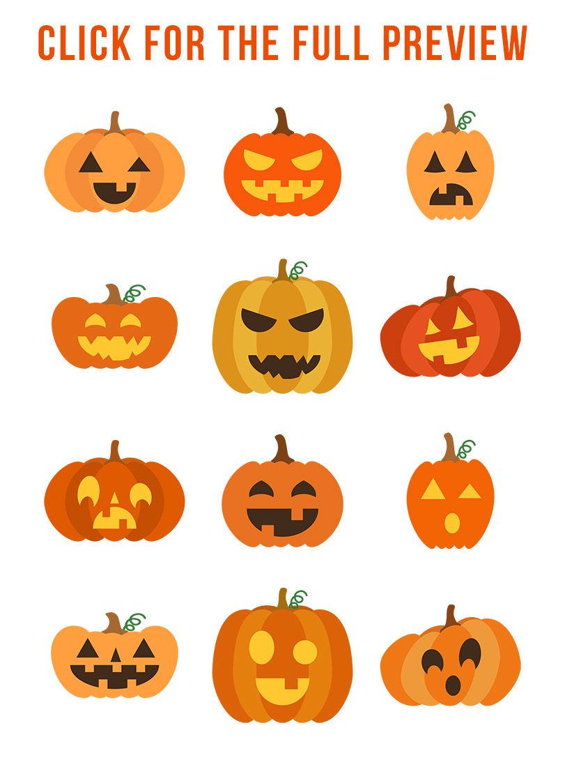 Halloween Pumpkin Images Clip Art.12 Jack O Lanterns Clipart Pumpkin Svg Halloween Clipart