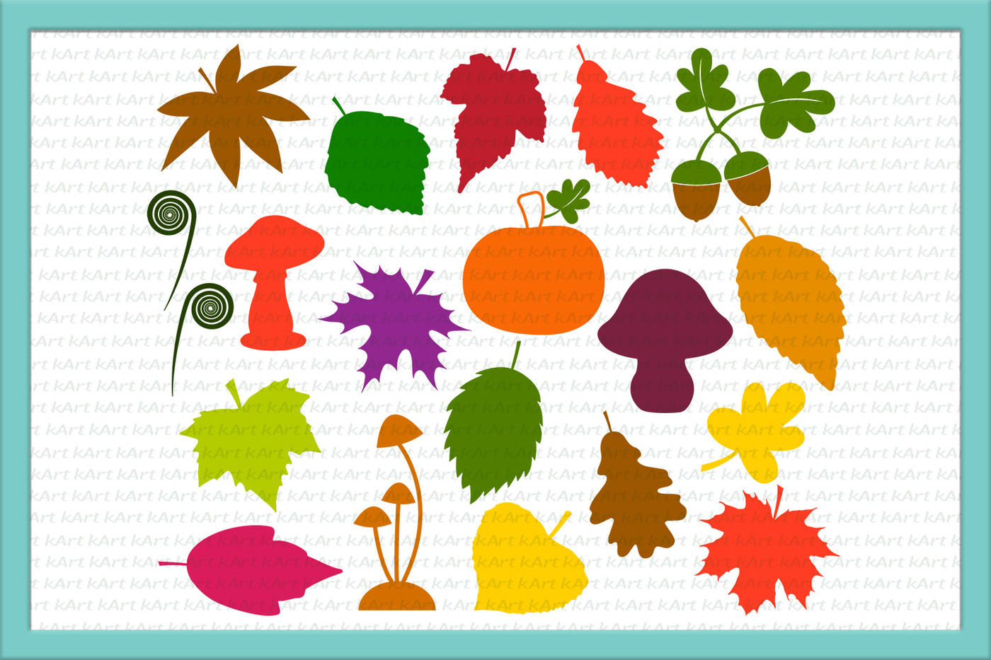 25+ Leaves Svg, Fall Leaves Svg, Leaves Clipart, Mushrooms Svg, Pumpkin Svg, Fall Bundle Svg, Acorn Svg, Maple Leaf Svg, Png, Jpeg, Dxf, Svgs Design