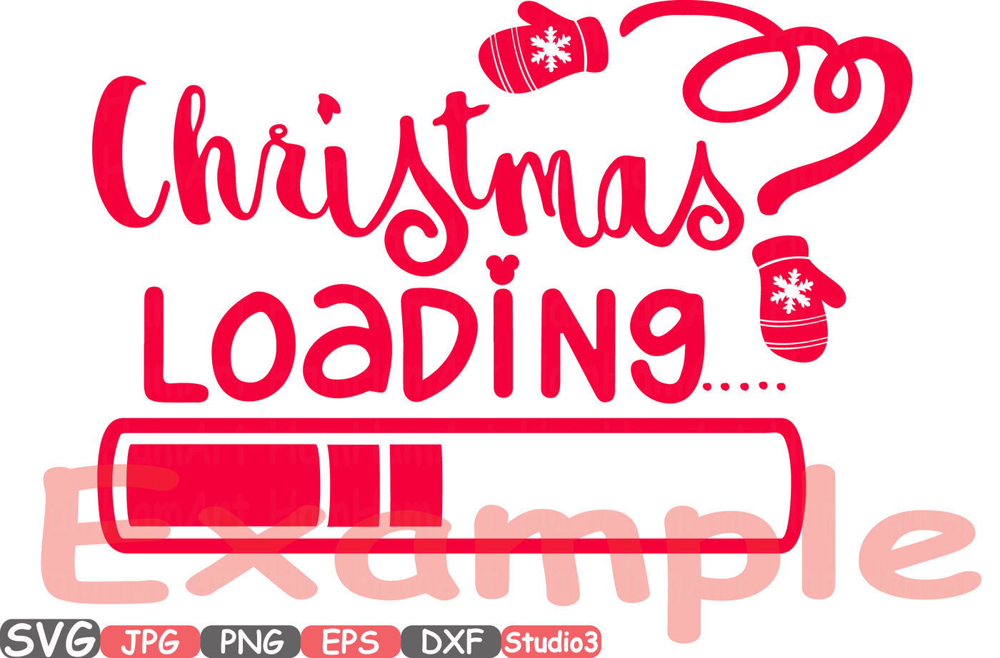 Christmas Loading Clipart Xmas Winter Snow Santa Claus Merry