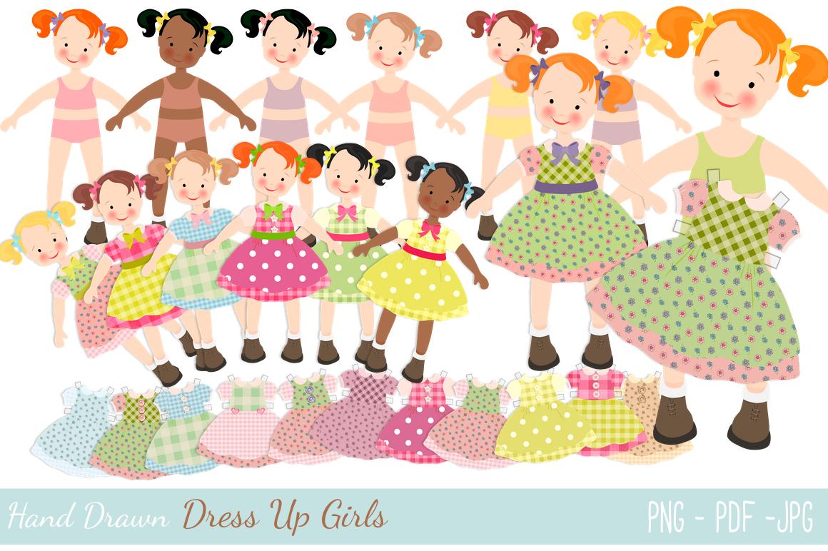 Dress Up Dolls By Digital Paper Craft Thehungryjpeg Com