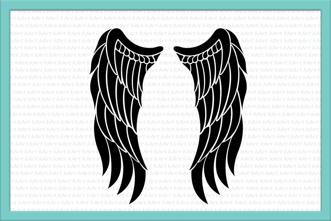 Angel Wings Svg Angel Svg Angel Wings Iron On Wings Svg Wings