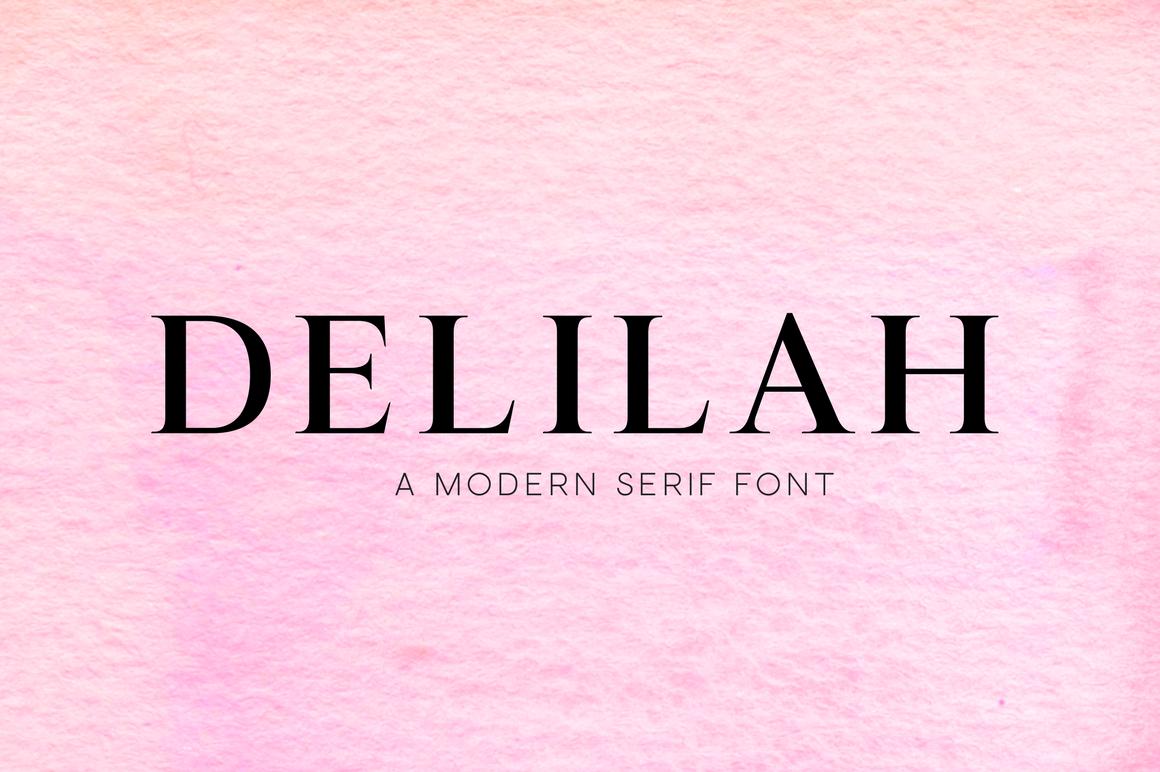 Delilah A Modern Serif Font By Babygotbrand Thehungryjpeg Com