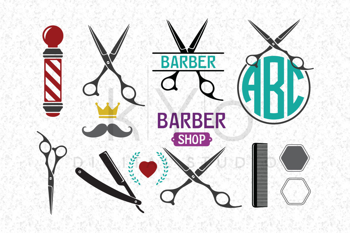 Svg Files Barber Shop Hair Dresser Salon Hairstylist