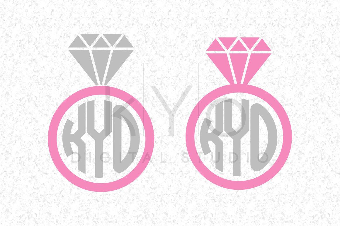 27+ Svg Dxf Monogram Wedding Rings Cut Files PNG