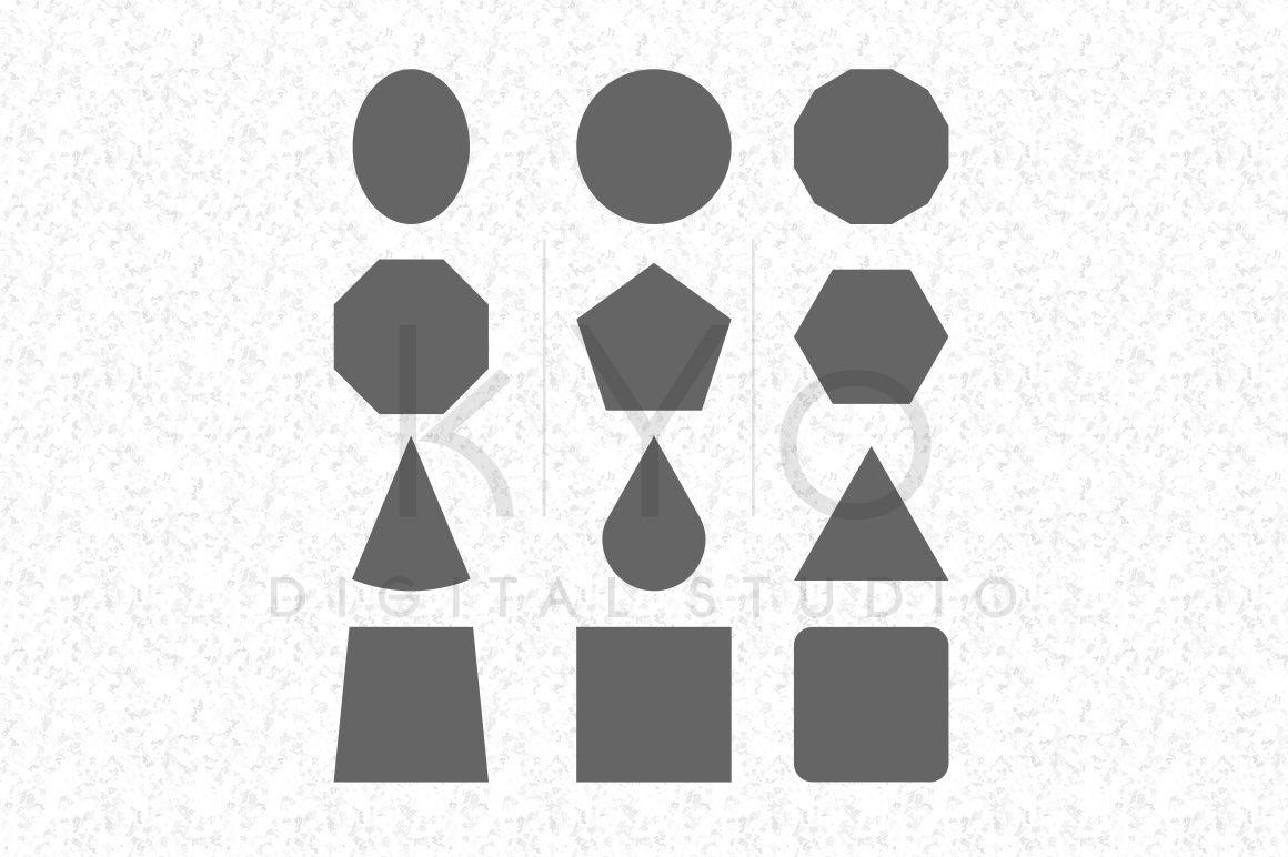 Basic Shapes Svg Dxf Files By Kyo Digital Studio Thehungryjpeg Com