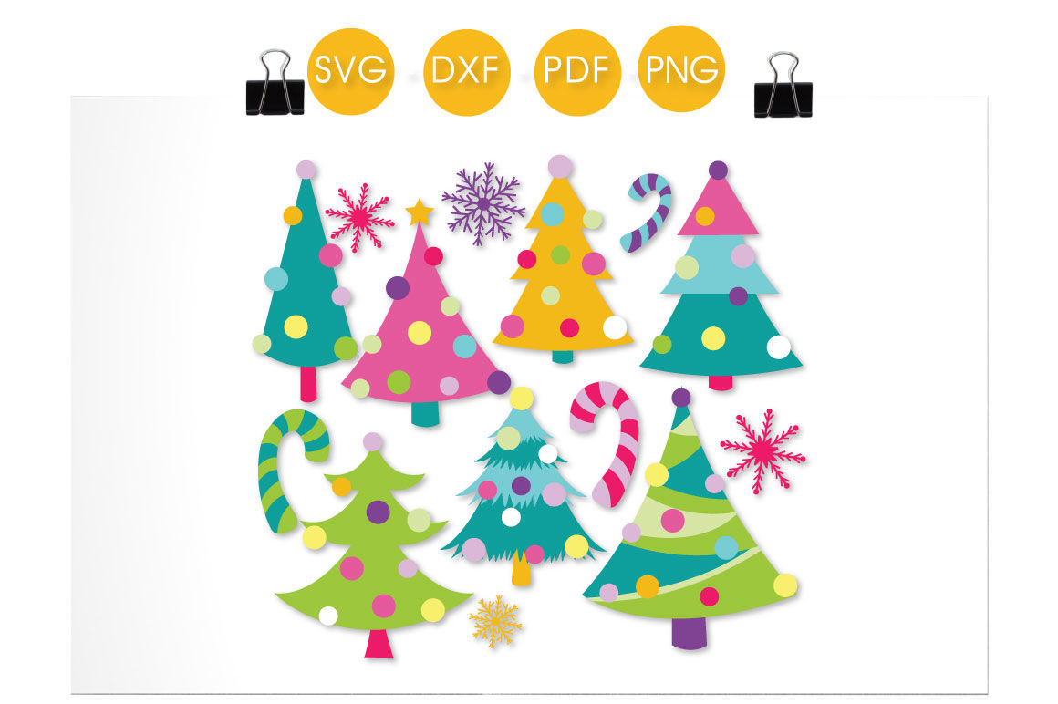 Christmas Trees Svg Png Eps Dxf Cut File By Prettycuttables Thehungryjpeg Com