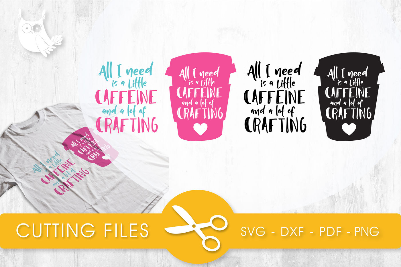 All need caffeine SVG, PNG, EPS, DXF, cut file By
